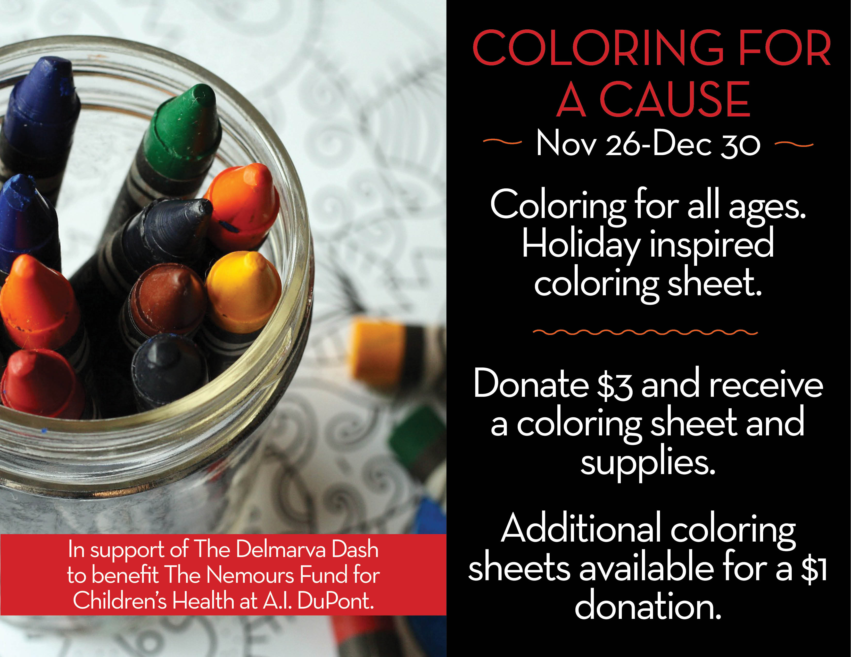 Coloring for a Cause December 2